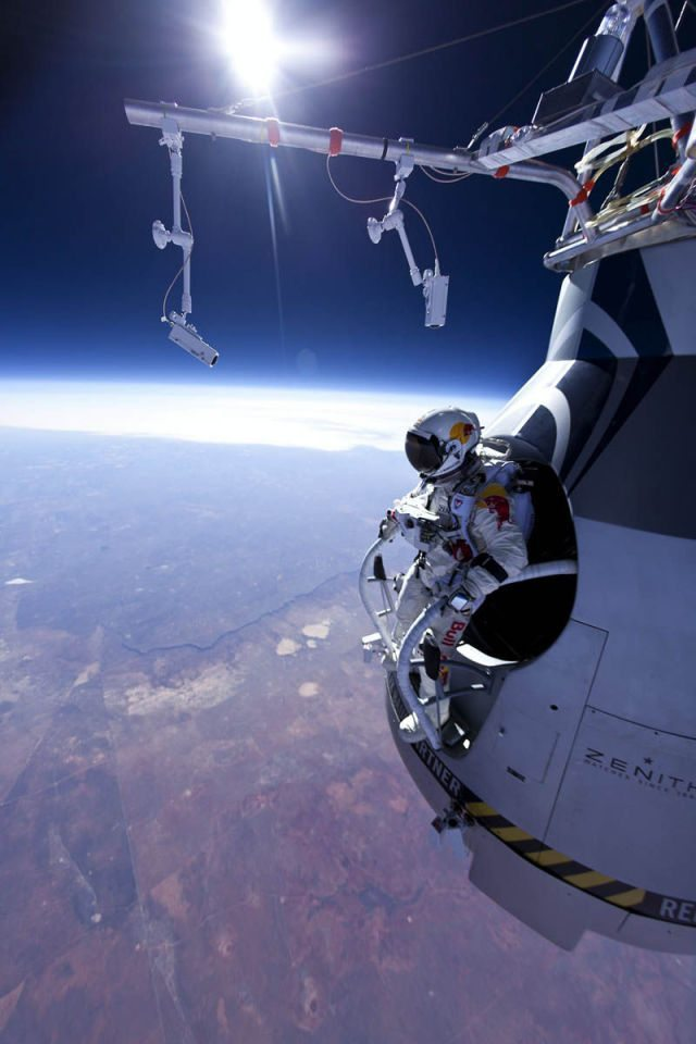 Want To See Someone Jump From OuterSpace?