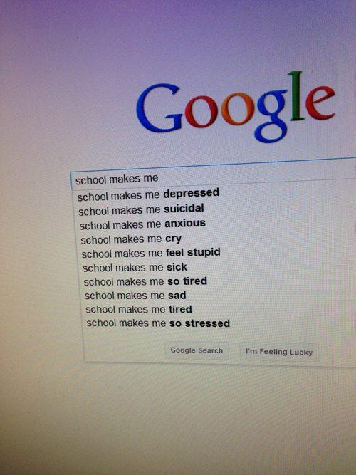 Schools Makes Me Google Screenshot