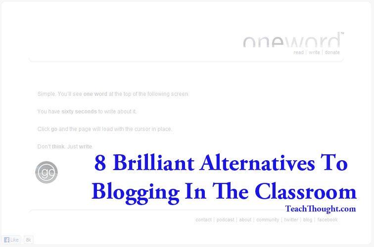 8 Brilliant Alternatives To Blogging In The Classroom