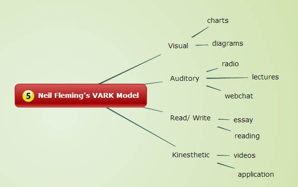 ways to support learning styles concept mapping learning style models concept map 4