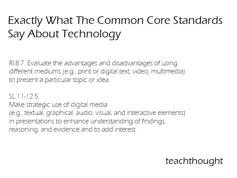 Exactly What The Common Core Standards Say About