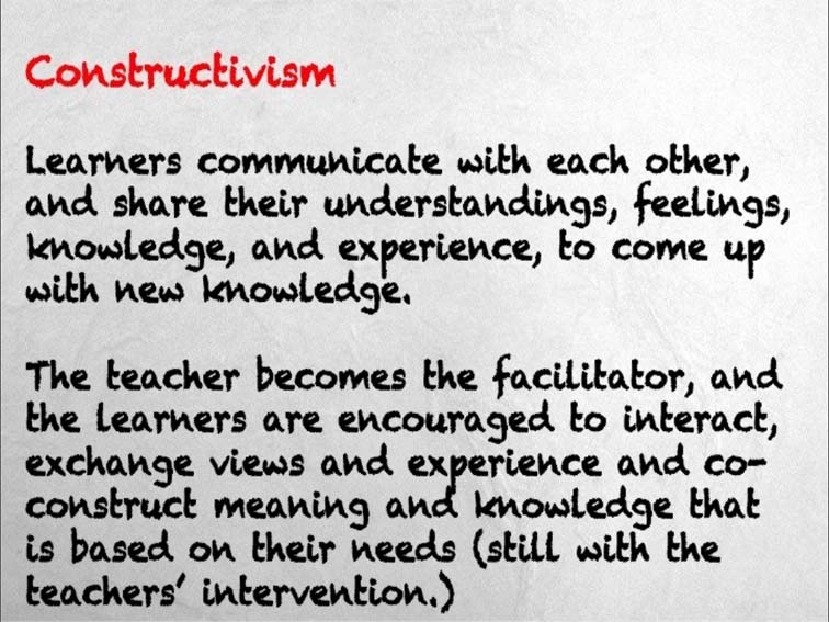 constructivist learning theory definition