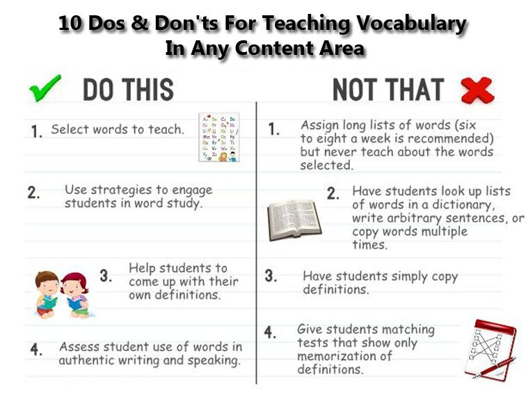 10 Dos Donts For Teaching Vocabulary In Any Content Area