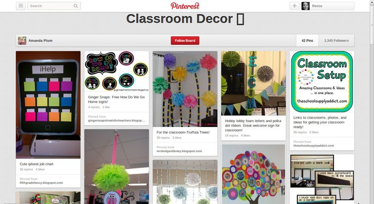 Classroom Decor Sites : Popular pinterest boards for teachers