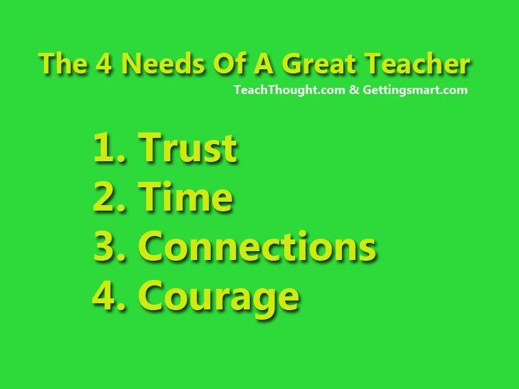 4 Needs Of A Great Teacher