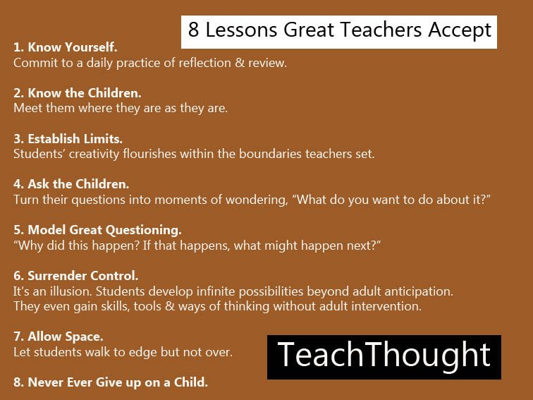 the need for acceptable teachers Without spot-on classroom management 10 reasons why you should never and back to the yelling teacher they go we all need to be good examples of adult.