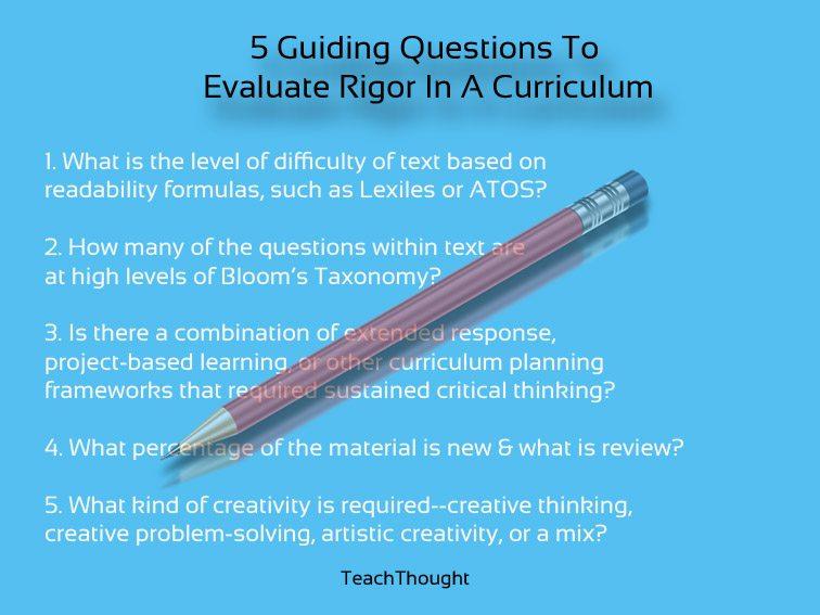 curriculum evaluation questions