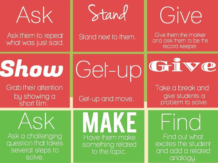 27 Ways To Respond When Students Don't Pay Attention