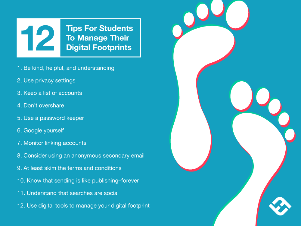 12 Tips To Help Students Manage Their Digital Footprint