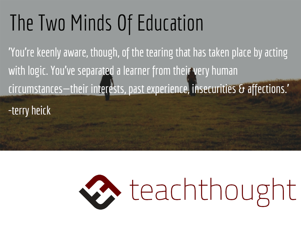 The Two Minds Of An Educator