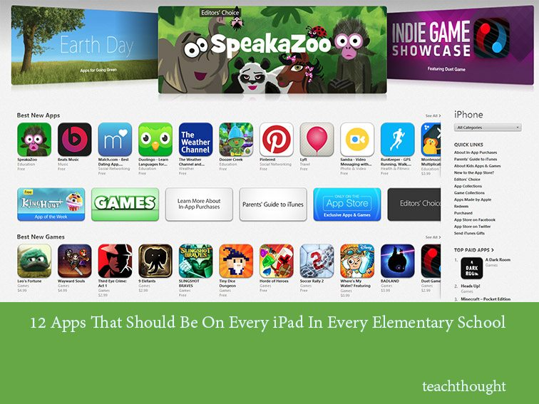12 Apps That Should Be On Elementary School iPad