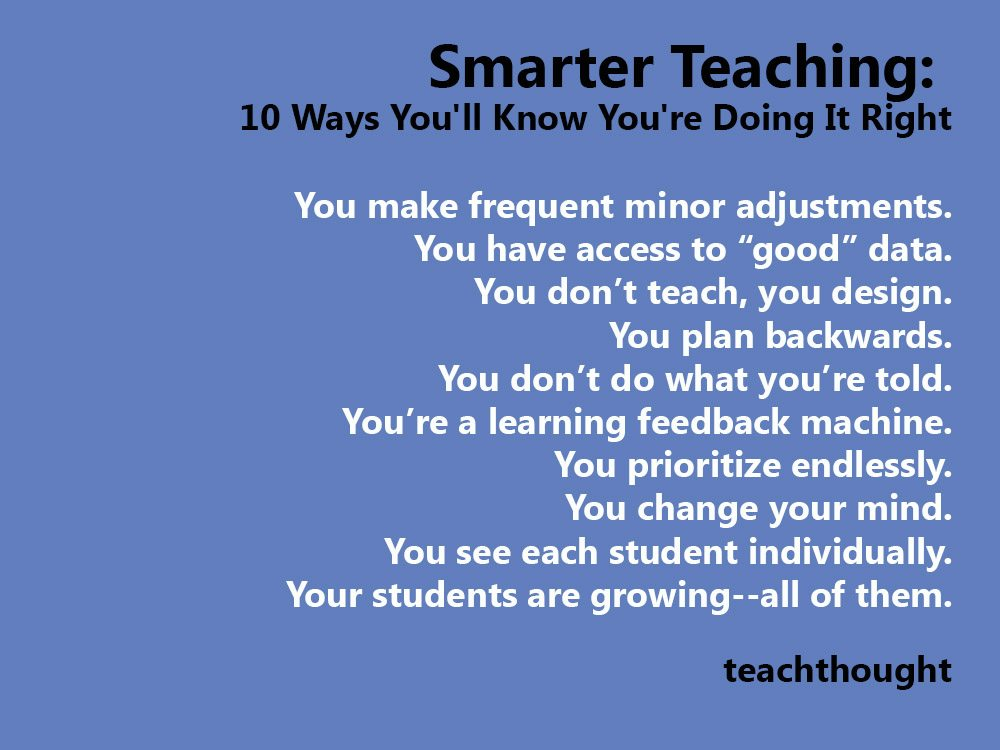 Smarter Teaching: 10 Ways You'll Know You're Doing It Right