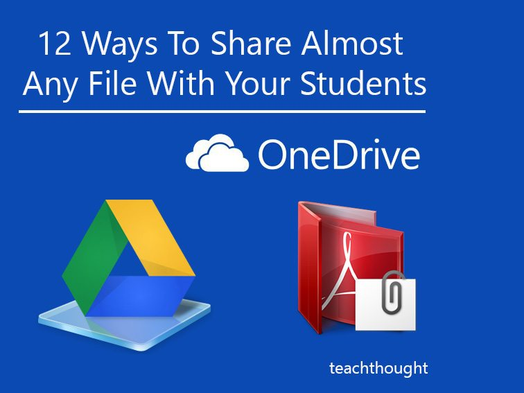 12 Ways To Share Almost Any File With Your Students