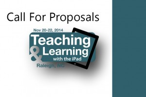 call-for-proposals-teaching-learning-ipad-2014