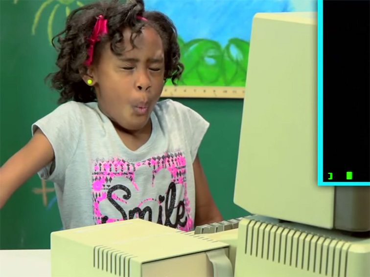 Kids react to old technology and it s brilliant read sources kids