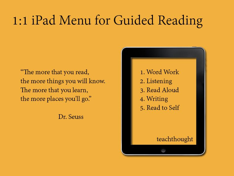 A 1:1 iPad Menu For Guided Reading