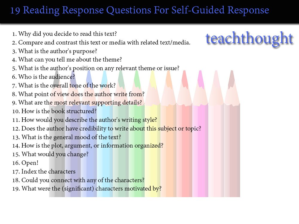 fiction non fiction reading response questions teachthought