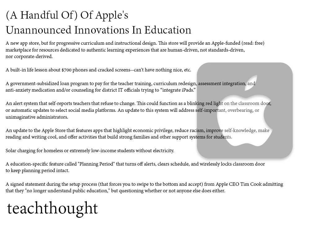 Apple Didn't Announce Any Of These Ideas For Your Classroom