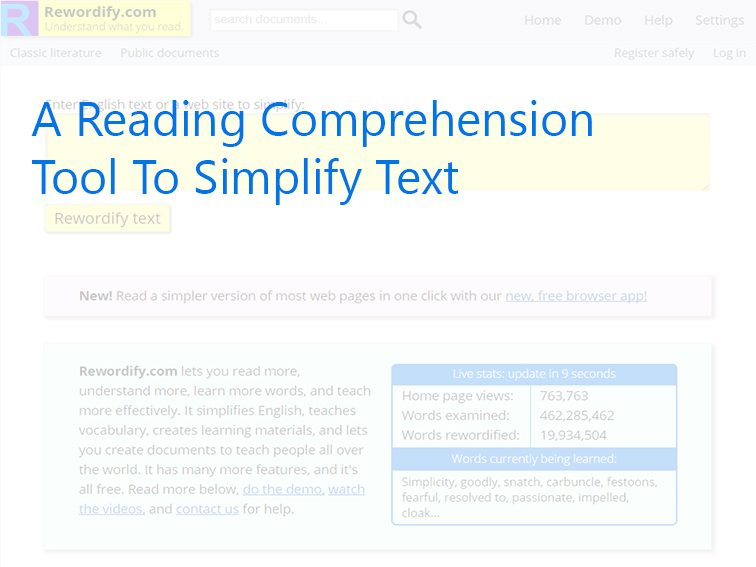 A Reading Comprehension Tool To Simplify Text