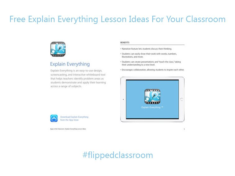 Free Explain Everything Lesson Ideas For Your Classroom -