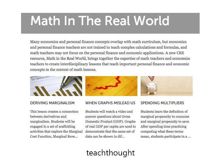 Math In The Real World: 400 Examples, Lessons, & Resources