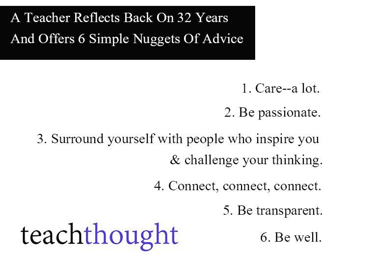 Dear 1st-Year Me: 6 Takeaways From 32 Years Of Teaching