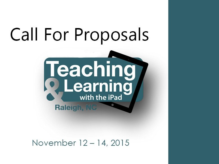 call-for-proposals-teaching-learning-ipad-2015