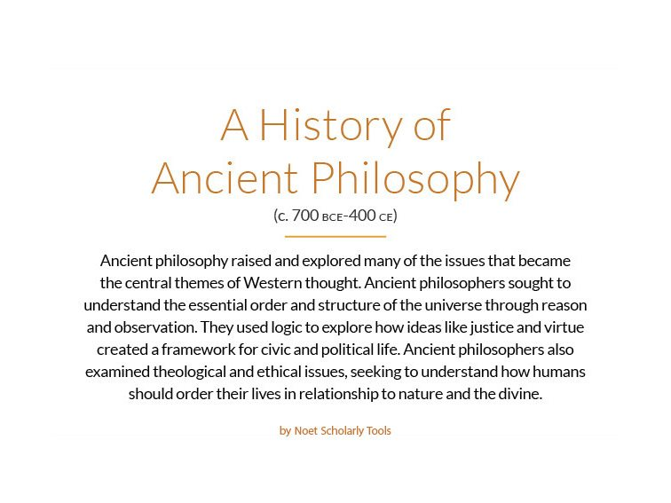 Graphic: A History Of Ancient Philosophy