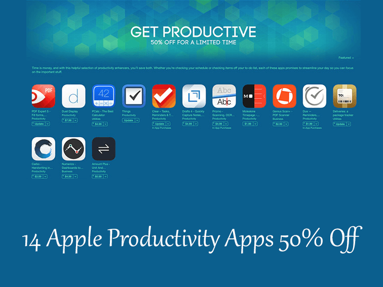 14 Apple Productivity Apps On Sale 50% Off