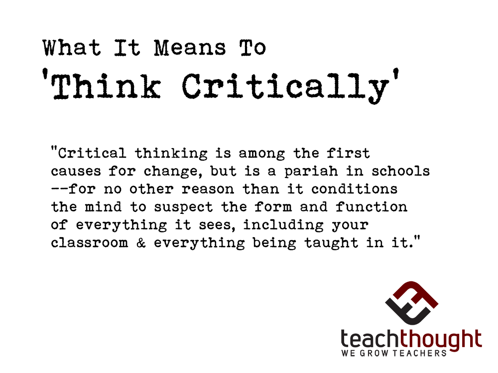 the main purpose of the reflection element of critical thinking is to Critical thinking c01 what is critical thinking necessarily good at critical thinking a critical thinker is able thinking is crucial for self-reflection.