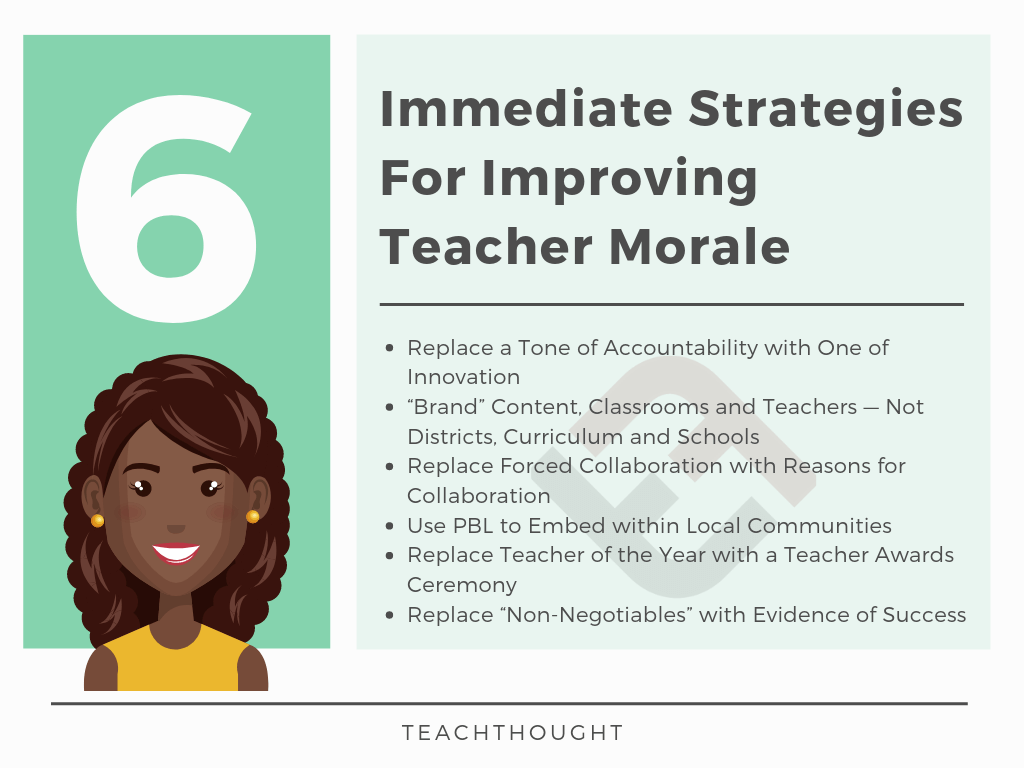 6 strategies for improving teacher morale