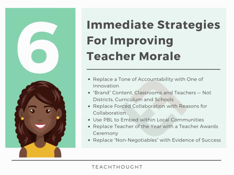 6 Immediate Strategies For Improving Teacher Morale
