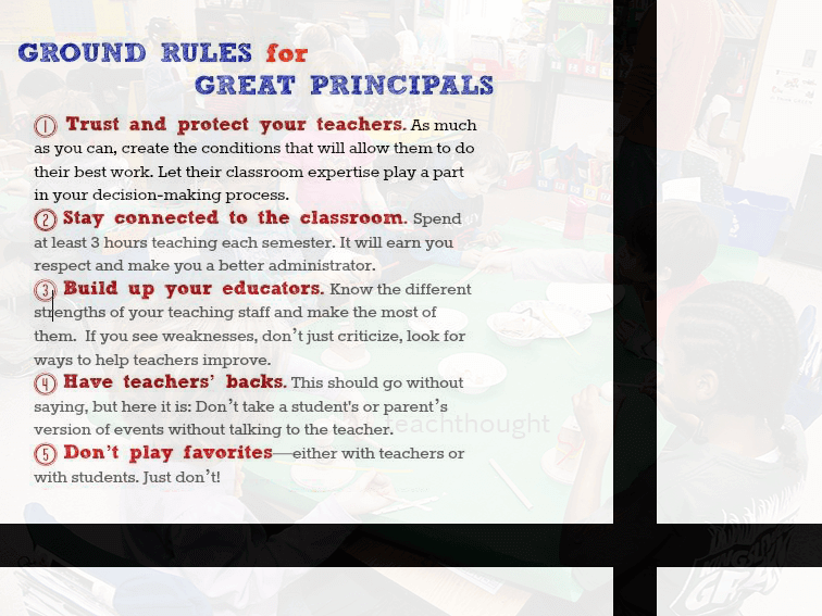 9 Ground Rules For Great Principals