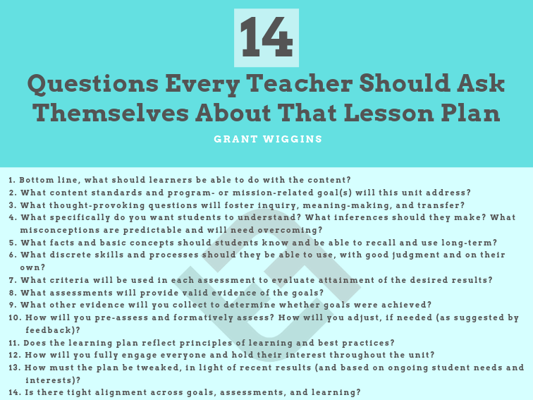 14 Questions Every Teacher Should Ask Themselves About That