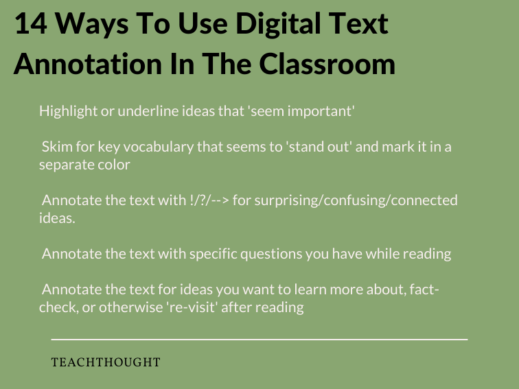 Ways To Use Digital Text Annotation In The Classroom