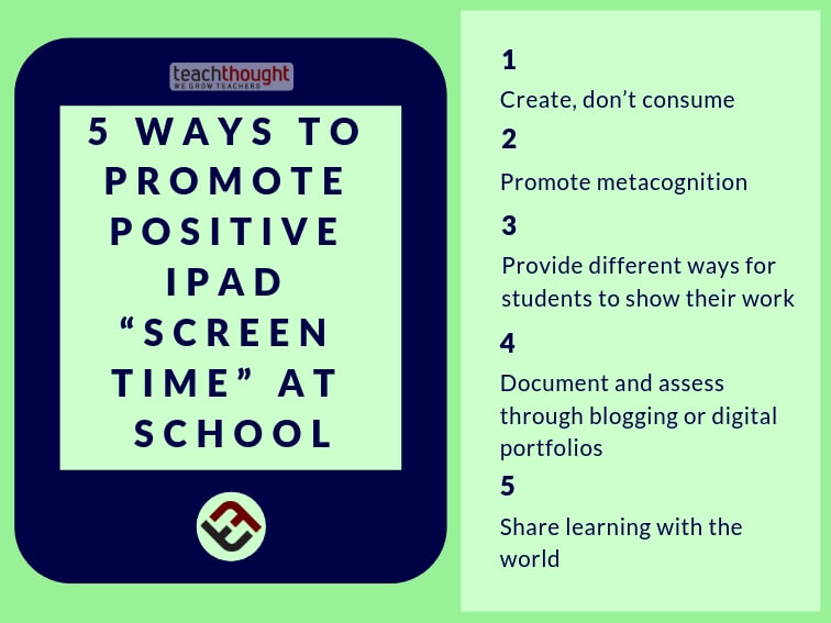 5 ways to promote positive iPad screen time at school