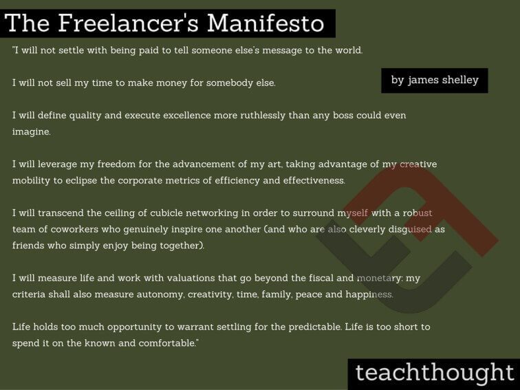 'The Freelancer's Manifesto' Is Something Every Student Should Know