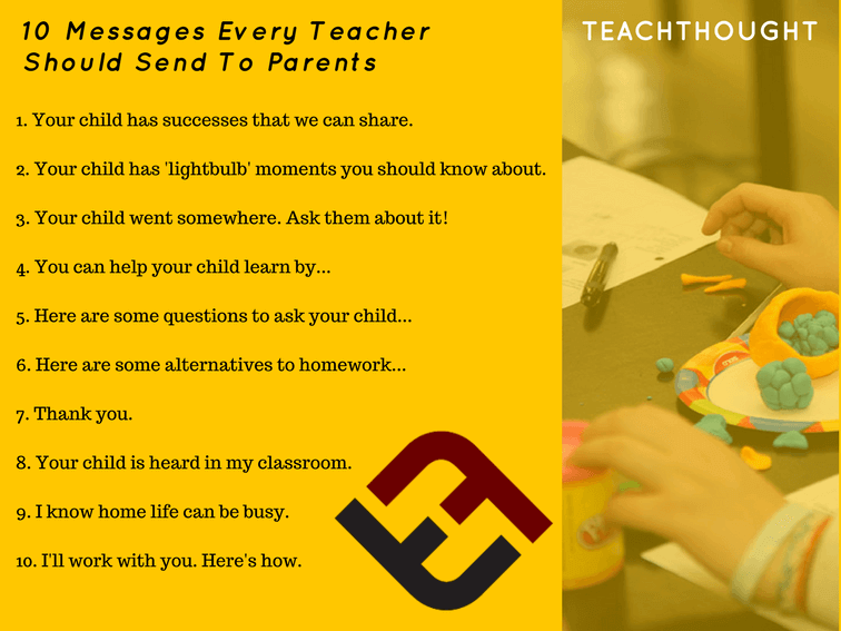 10 Messages Every Teacher Should Send To Parents