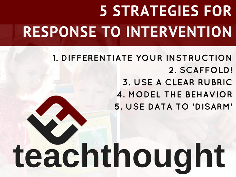 5 Strategies For Response To Intervention