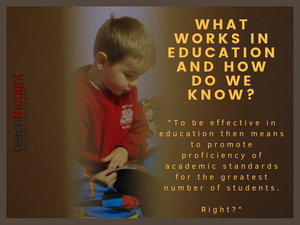 What Works In Education And How Do We Know?