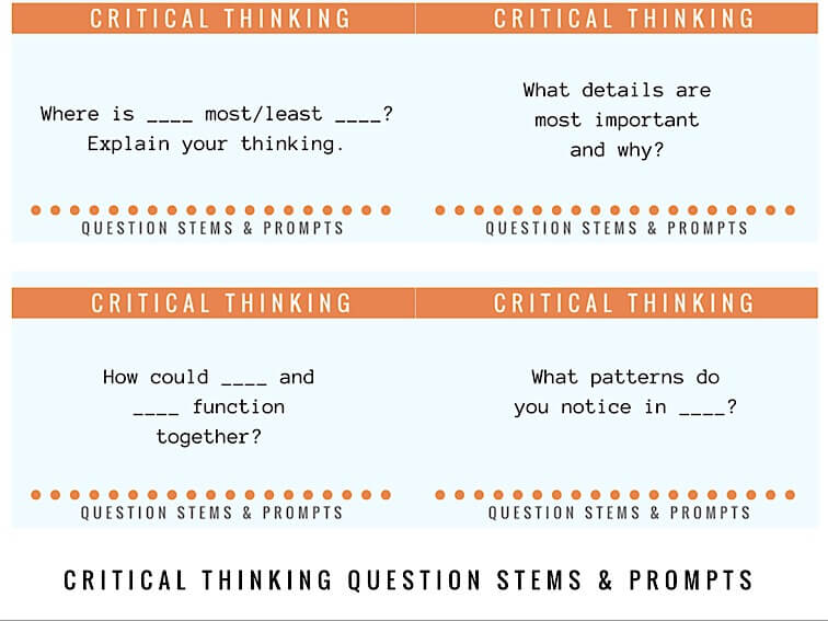28 Critical Thinking Question Stems For Any Content Area