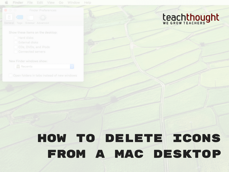 How To Delete Icons From A Mac Desktop