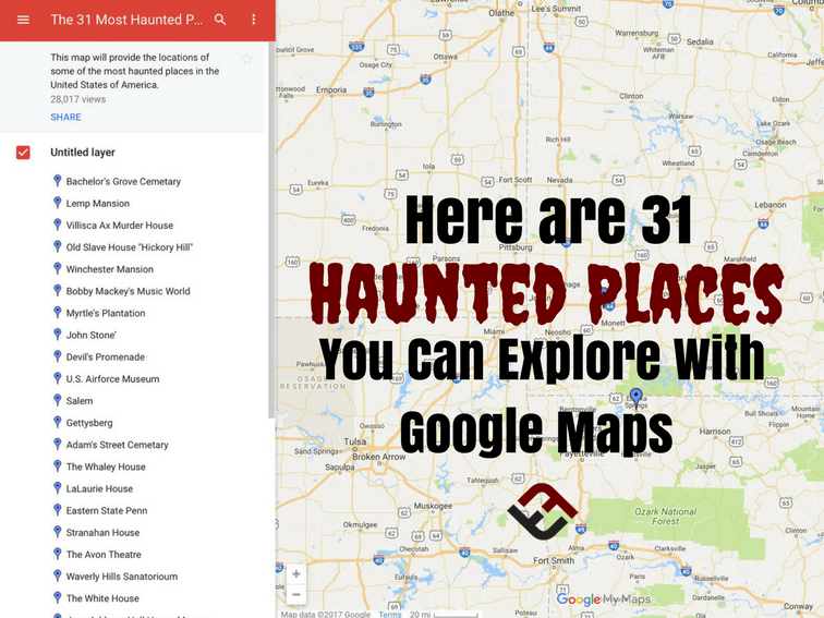places haunted maps google creepy scary map most funny coordinates america earth explore houses teachthought names ghost technology flyer