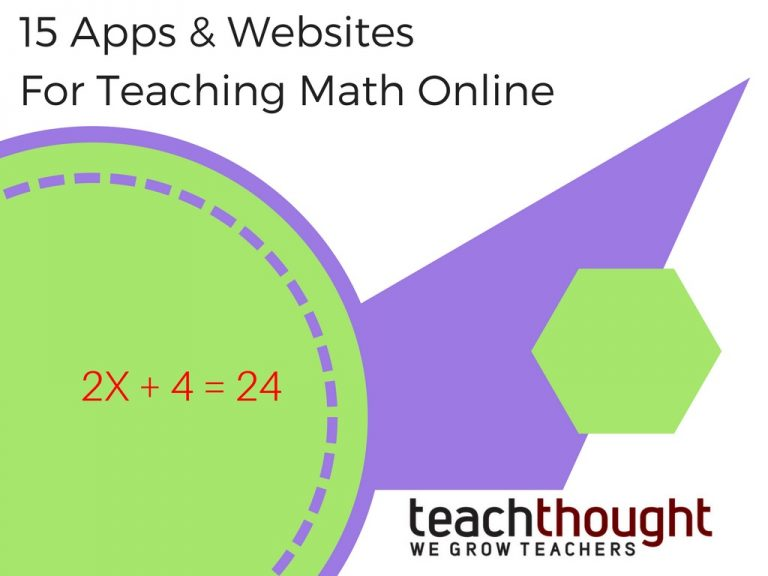 15 Apps & Websites For Teaching Math Online