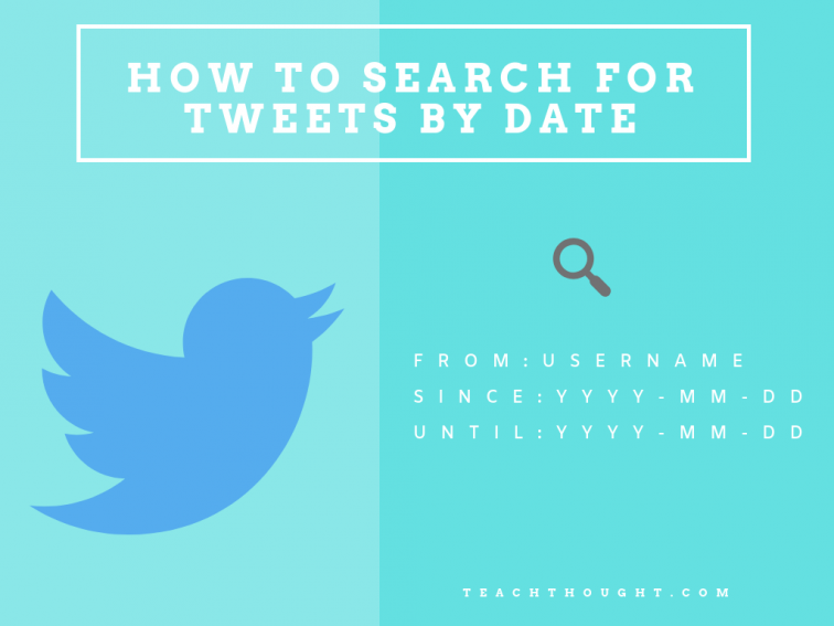 how to find old tweets by date