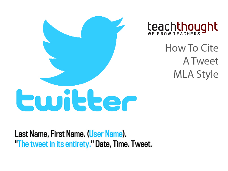 How To Cite A Tweet Mla Style