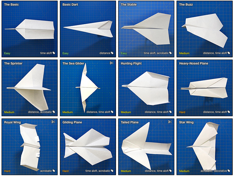 A Really Cool Database For Paper Airplanes