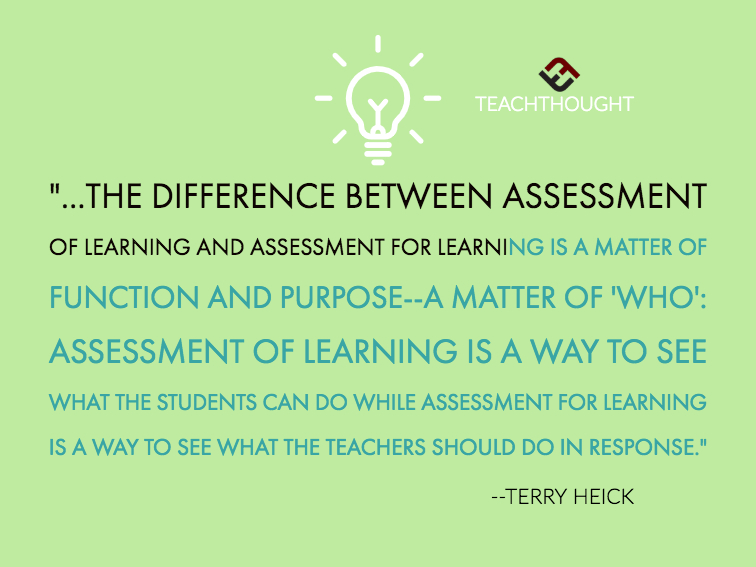 The Difference Between Assessment Of Learning And Assessment