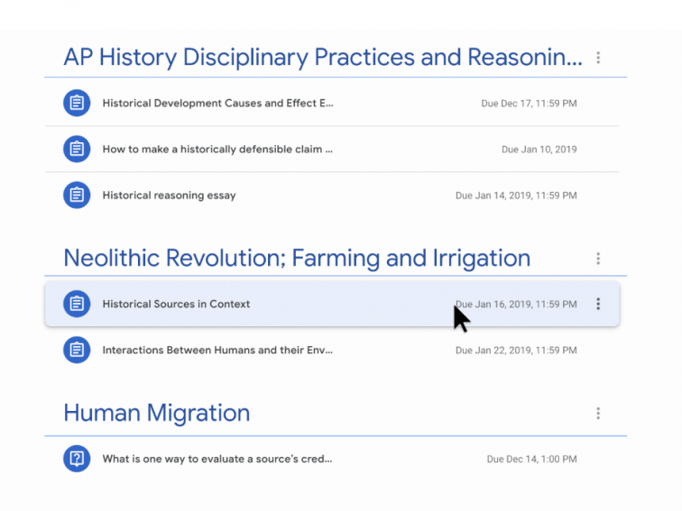 You Can Now Drag And Drop To Organize Your Google Classwork