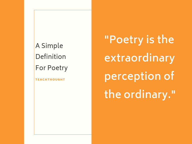 A Simple Definition For Poetry